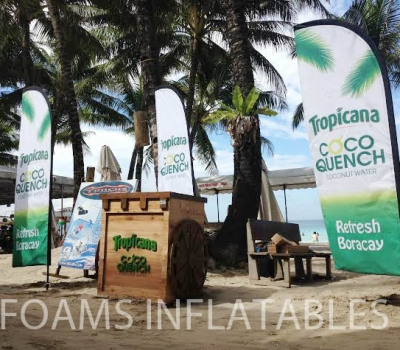 Tropicana Feather Banner with watermark